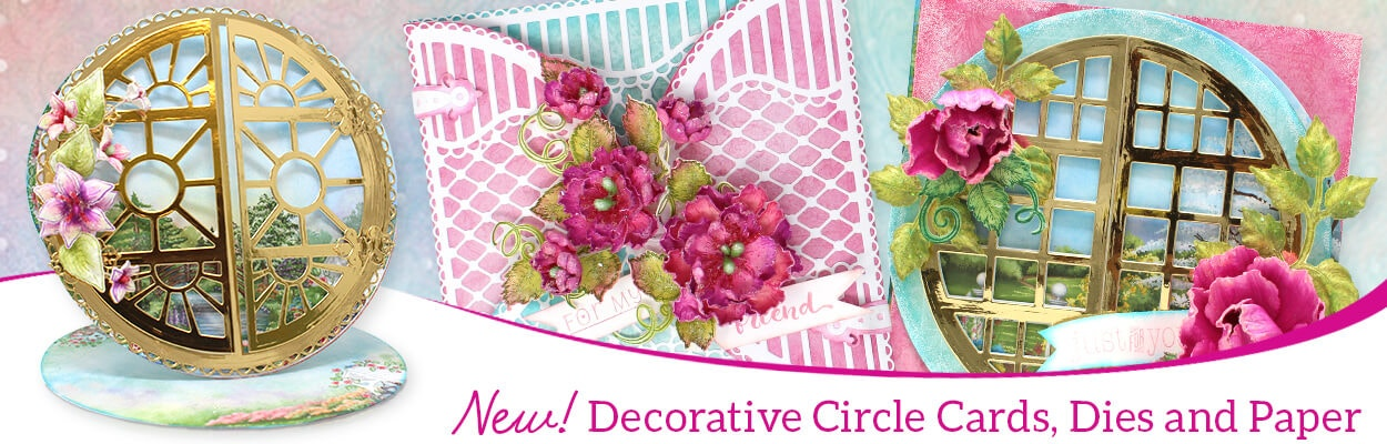 Decorative Circle Cards, Dies and Paper