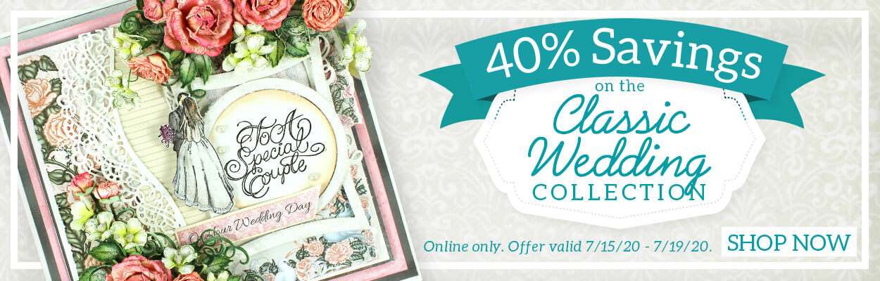 40% Savings on the Classic Wedding Collection