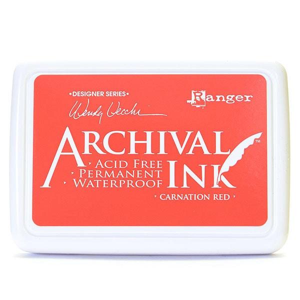 Ranger Archival Ink Pad - Carnation Red