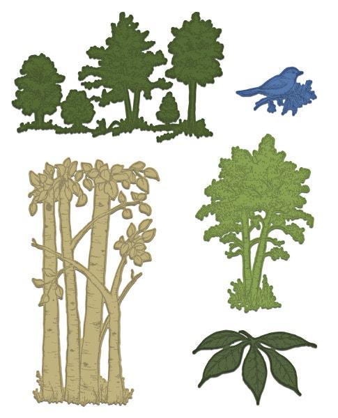 Woodsy Landscape Die