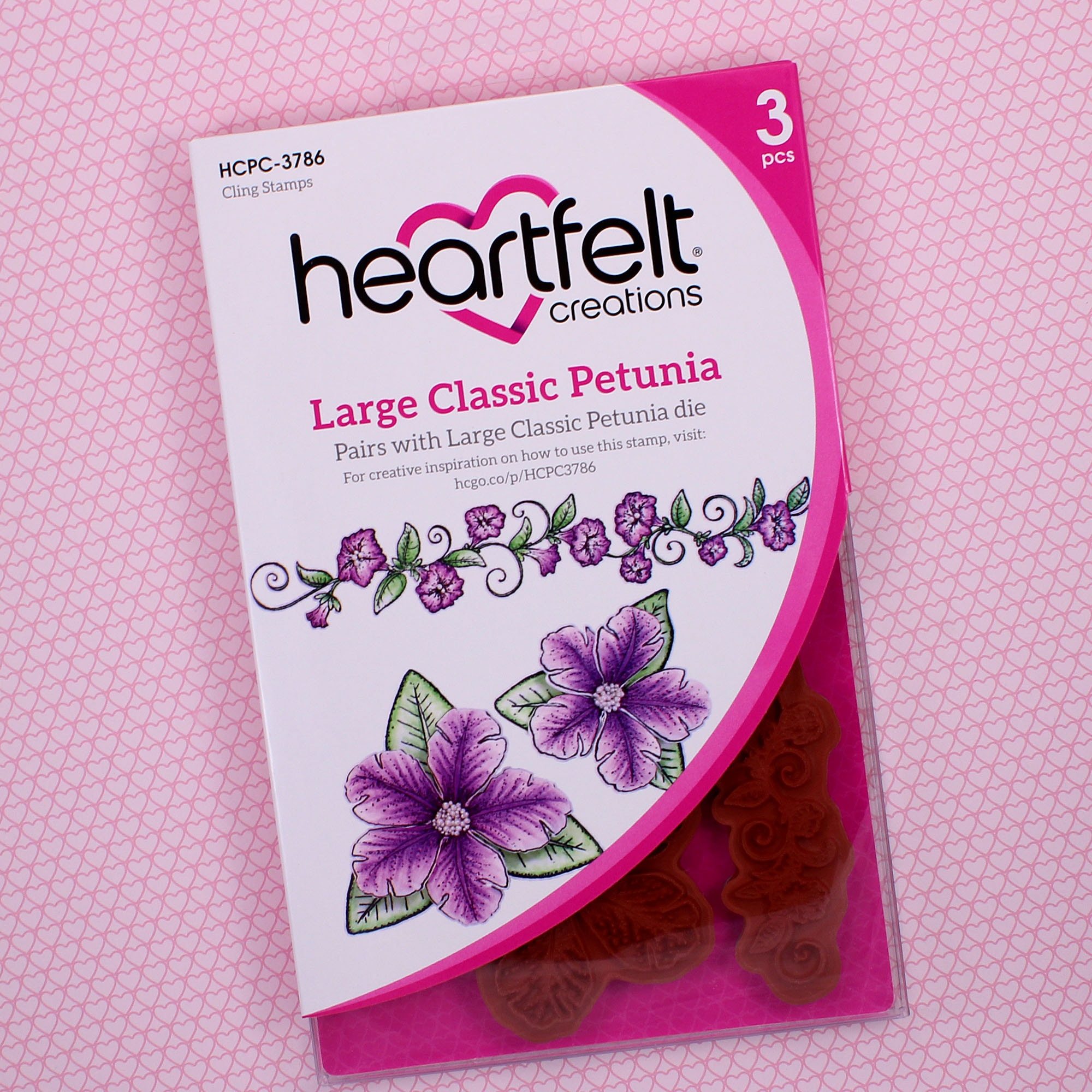 Large Classic Petunia Cling Stamp Set