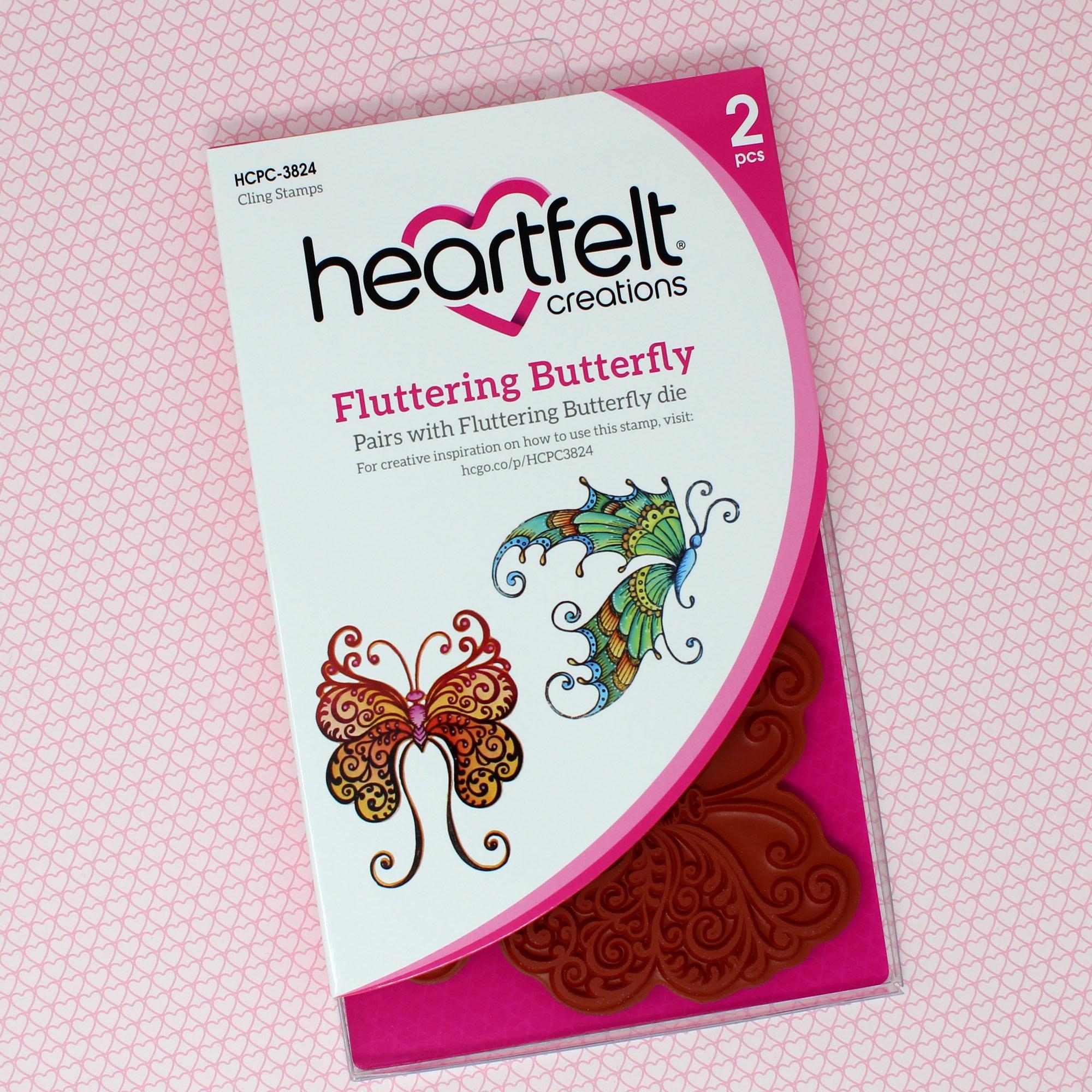 Fluttering Butterfly Cling Stamp Set