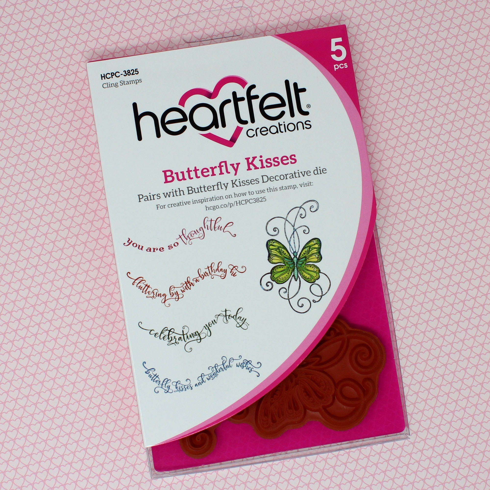 Butterfly Kisses Cling Stamp Set