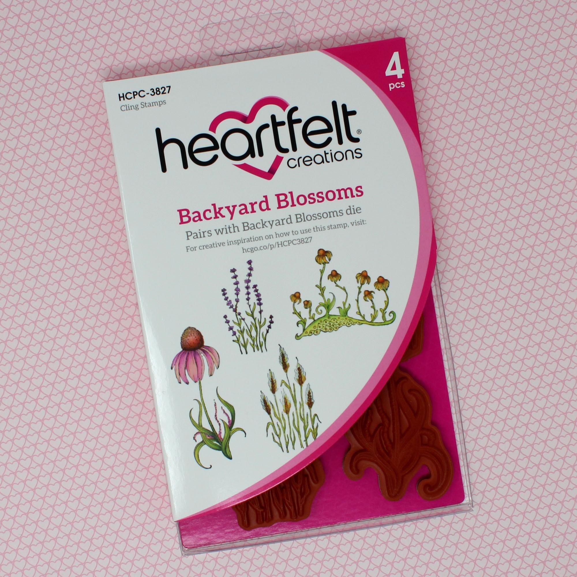 Backyard Blossoms Cling Stamp Set