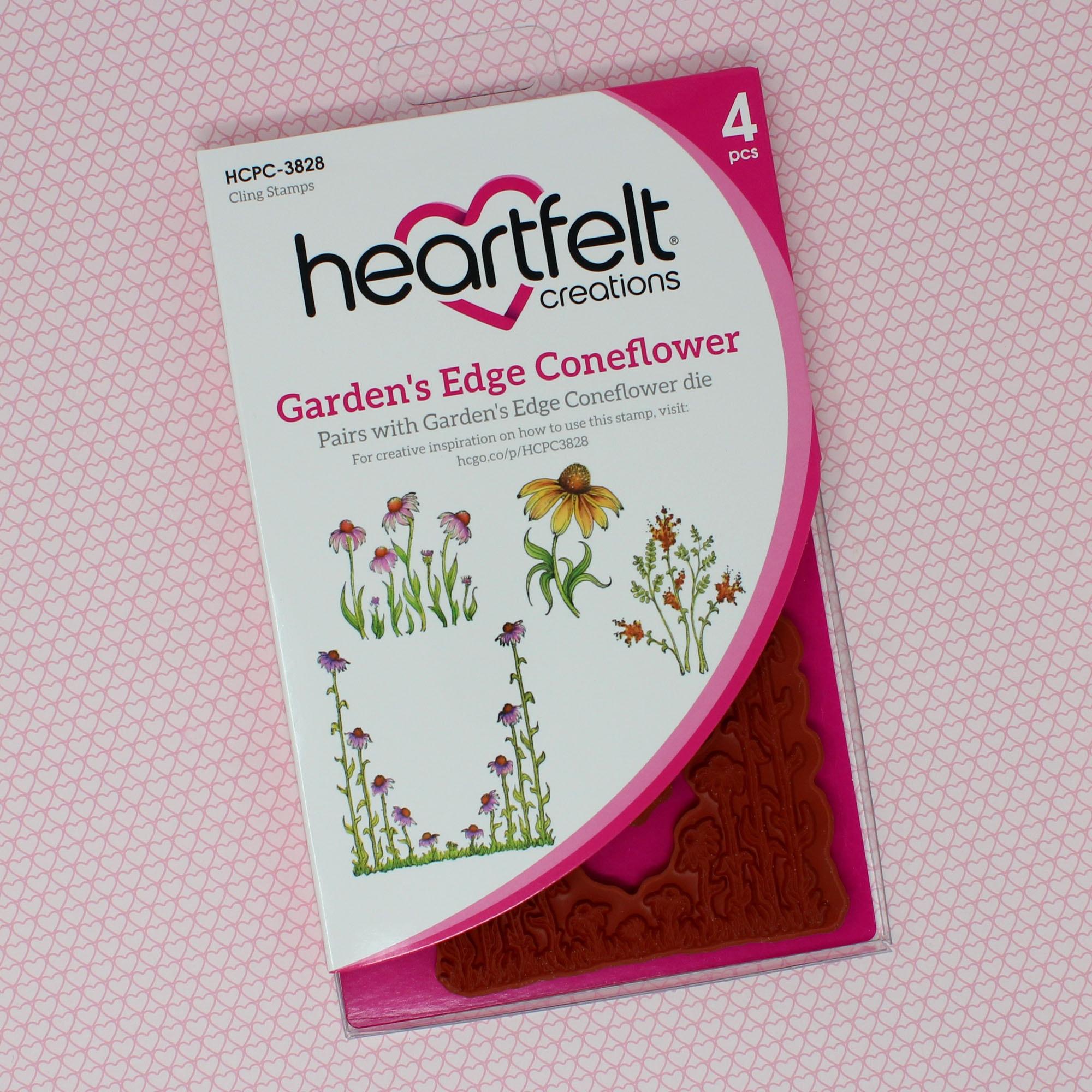 Garden's Edge Coneflower Cling Stamp Set