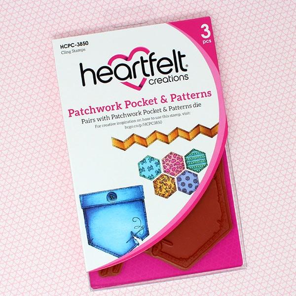Patchwork Pocket & Patterns Cling Stamp Set