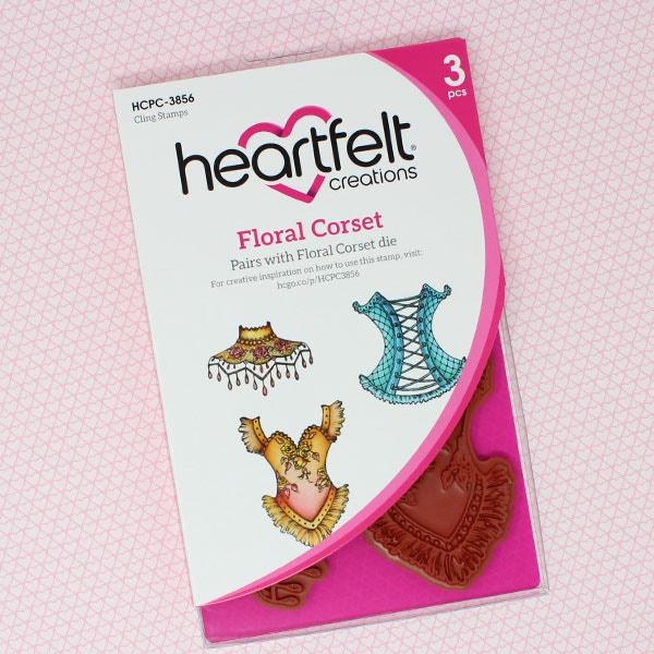 Floral Corset Cling Stamp Set