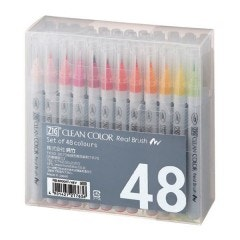 Zig Clean Color Real Brush Markers - 48 Pack