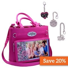 Black Friday Handbag-Fuchsia and Charms Bundle