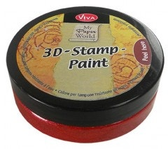 Carmine Red Metallic 3D Stamp Paint