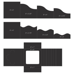 "6"" x 6"" Foldout Cards-Black"