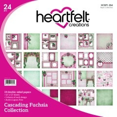 Cascading Fuchsia Paper Collection