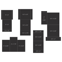 Pocket and Flipfold Inserts C - Black