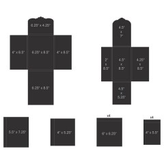 Pocket and Flipfold Inserts E-Black