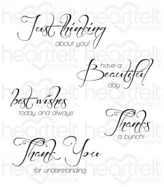 Heartfelt Expressions Cling Stamp Set