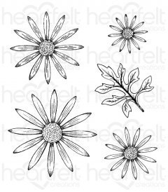 Delicate Asters Cling Stamp Set
