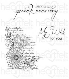 Script Aster Background Cling Stamp Set