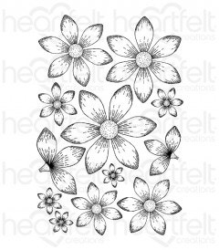 Sun Kissed Fleur Cling Stamp Set