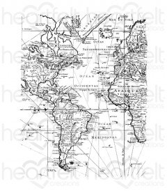 World Map Cling Stamp Set