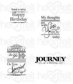 All Occasion Sentiments Cling Stamp Set