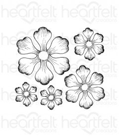 Arianna Blooms Cling Stamp Set