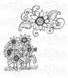 Sunflower Patch Cling Stamp Set
