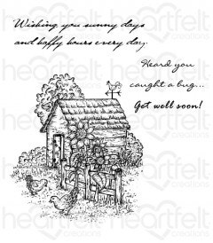 Chick Retreat Cling Stamp Set