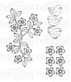 Birds and Blooms Cling Stamp Set