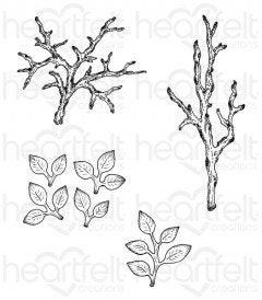 Leafy Branch Cling Stamp Set