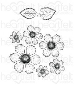 Botanical Rose Cling Stamp Set