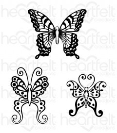 Botanical Wings Cling Stamp Set