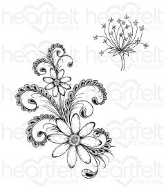 Daisy Flourish Cling Stamp Set