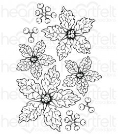 Sparkling Poinsettia Cling Stamp Set