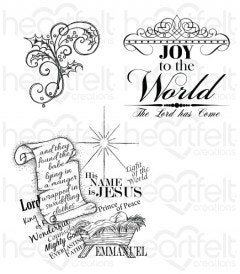 Joy to the World Cling Stamp Set
