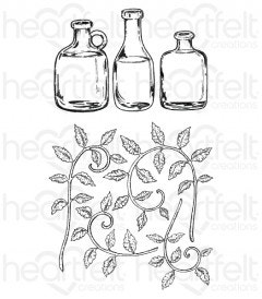 Jars and Vines Cling Stamp Set