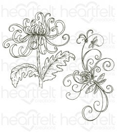 Enchanted Mum Bouquet Cling Stamp Set