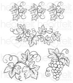 Italiana Grapevines Cling Stamp Set