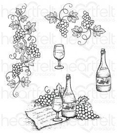 Italiana Grape Clusters Cling Stamp Set