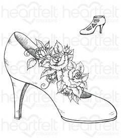 Heels and Roses Cling Stamp Set