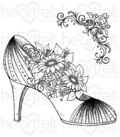 All Glammed Up Shoe Cling Stamp Set