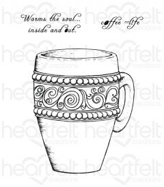 Coffee Mug Cling Stamp Set