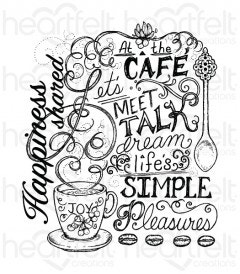 Coffee Talk Background Cling Stamp Set