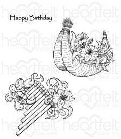 Sunrise Lily Flute Cling Stamp Set