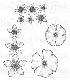 Water Lily Cling Stamp Set