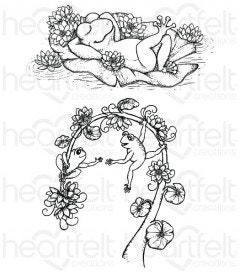 Winking Frogs Cling Stamp Set