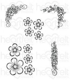 Berry Blossoms Cling Stamp Set