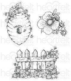 Sweet as Honey Cling Stamp Set