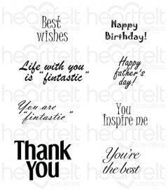 Heartfelt Wishes Cling Stamp Set