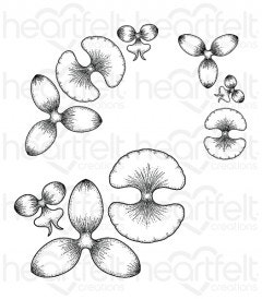 Botanic Orchid Cling Stamp Set