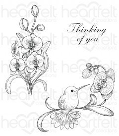 Botanic Orchid Bouquet Cling Stamp Set